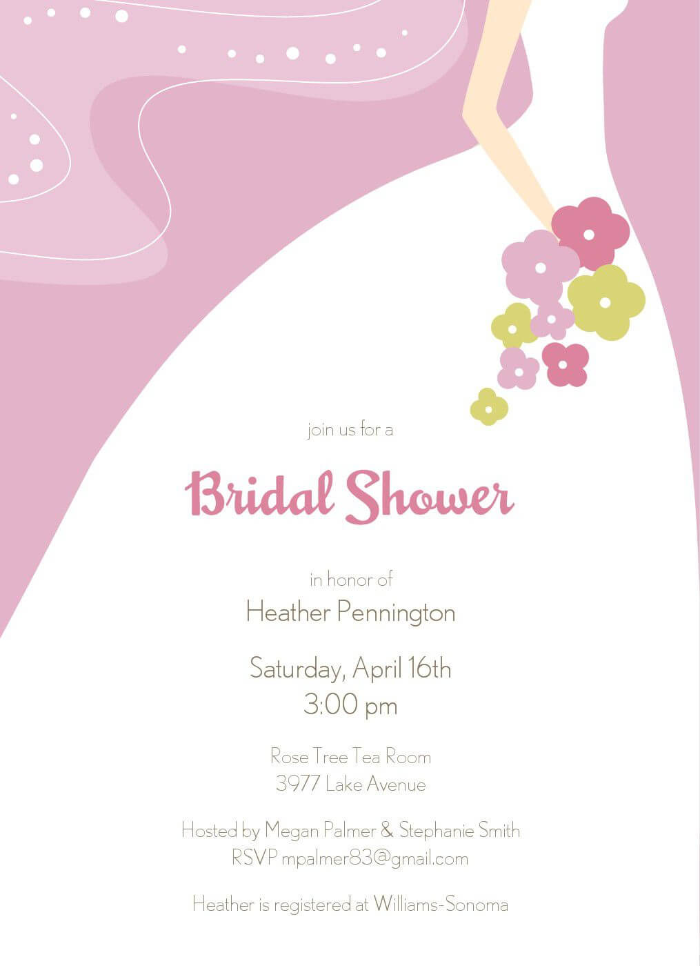 Bridal Shower Invitation Templates : Bridal Shower Inside Blank Bridal Shower Invitations Templates