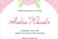 Bridal Shower Invitation Templates : Bridal Shower with Blank Bridal Shower Invitations Templates