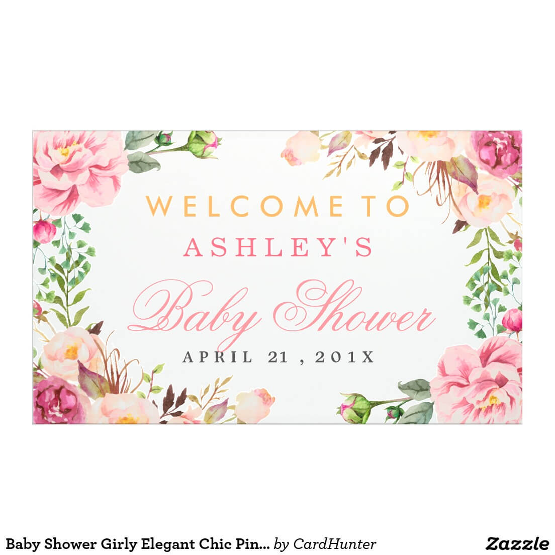 Bridal Shower Poster Template - Colona.rsd7 Throughout Bridal Shower Banner Template