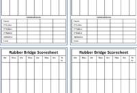 Bridge Score Sheet – 6 Free Templates In Pdf, Word, Excel throughout Bridge Score Card Template