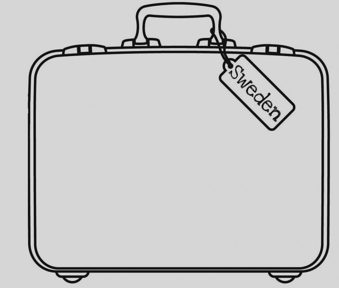 Briefcase Clipart Empty Suitcase, Briefcase Empty Suitcase For Blank Suitcase Template