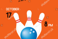 Bright Retro Bowling Party Poster White | Business/finance in Bowling Party Flyer Template
