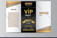 Brochure Template For Vip Party with regard to Adobe Illustrator Brochure Templates Free Download