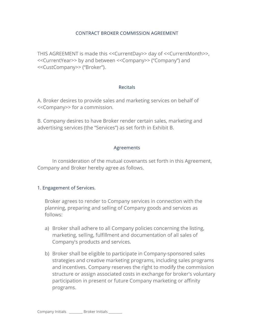 Broker Commission Sales Agreement - 3 Easy Steps With Regard To Business Broker Agreement Template