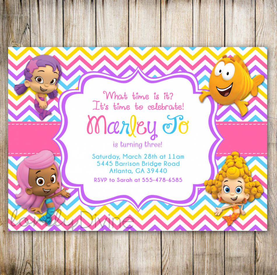 Bubble Guppies Birthday Invitation Template – Best Happy Pertaining To Bubble Guppies Birthday Banner Template