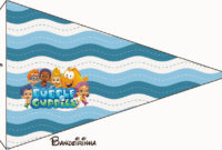 Bubble Guppies Free Party Printables. – Oh My Fiesta! In English throughout Bubble Guppies Birthday Banner Template