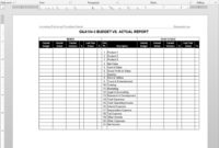 Budget Vs Actual Report Template | G&a104-5 intended for Annual Budget Report Template