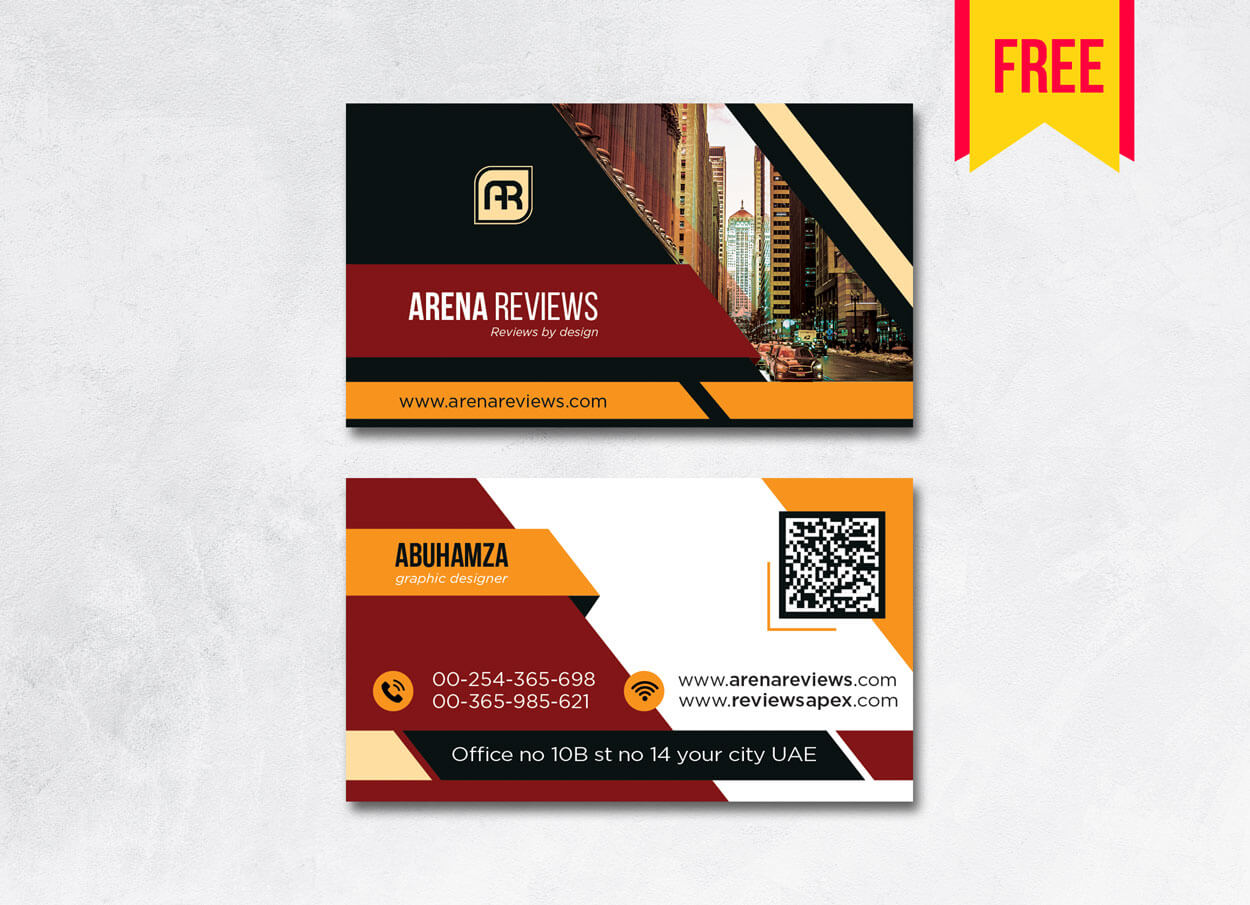 Building Business Card Design Psd – Free Download | Arenareviews For Blank Business Card Template Psd