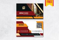 Building Business Card Design Psd – Free Download | Arenareviews regarding Business Card Size Psd Template
