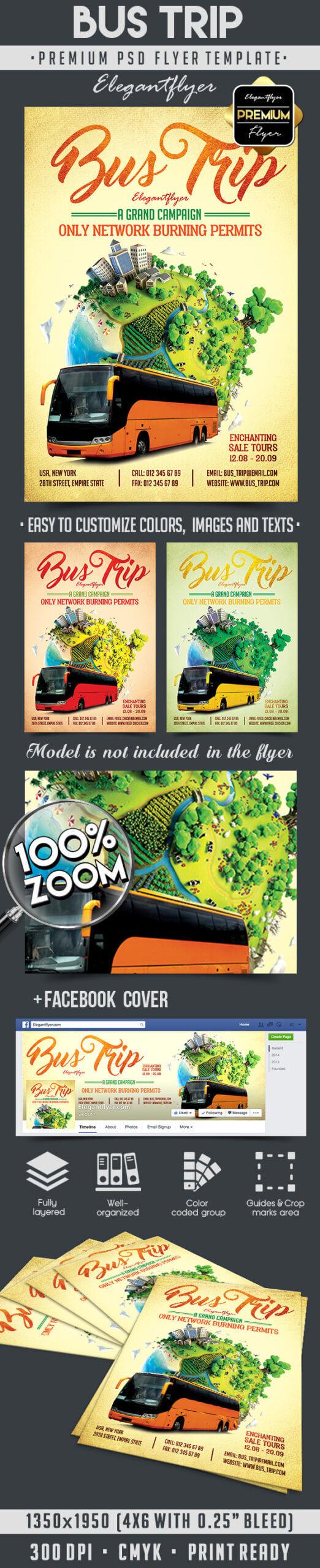 Bus Trip Flyer Inside Bus Trip Flyer Templates Free