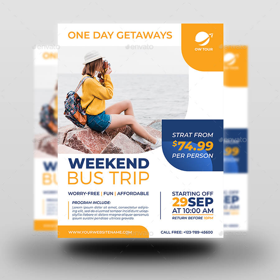 Bus Trip Flyer Template With Bus Trip Flyer Templates Free