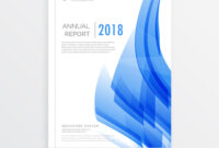 Business Annual Report Cover Page Template In A4 for Annual Report Template Word Free Download