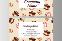 Business Card Design Template With Tasty Cakes regarding Cake Business Cards Templates Free