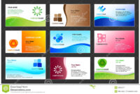 Business Card Template Design Stock Vector – Illustration Of throughout Call Card Templates