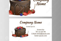 Business Card Template For Bakery Business. Stock Vector with regard to Cake Business Cards Templates Free