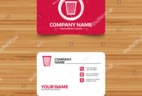 Business Card Template Texture Recycle Bin Stock Vector for Bin Card Template