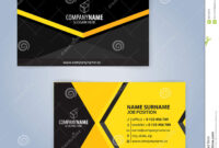 Business Card Template. Yellow And Black Stock Vector pertaining to Call Card Templates