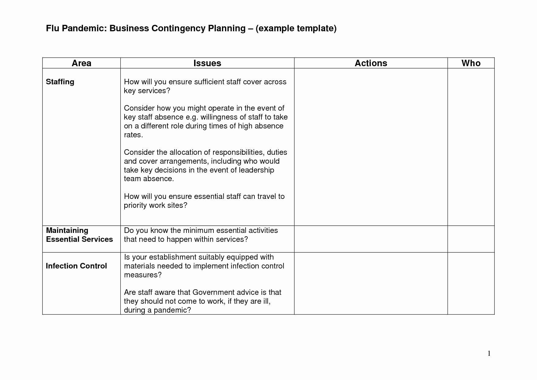 Business Continuity Plan Example Plans For Manufacturing Regarding Business Continuity Plan Template Australia