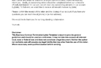 Business Contract Termination Letter Template | Templates At throughout Account Closure Letter Template