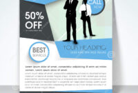Business Flyer, Banner Or Template. Stock Illustration in 1 Page Flyer Template
