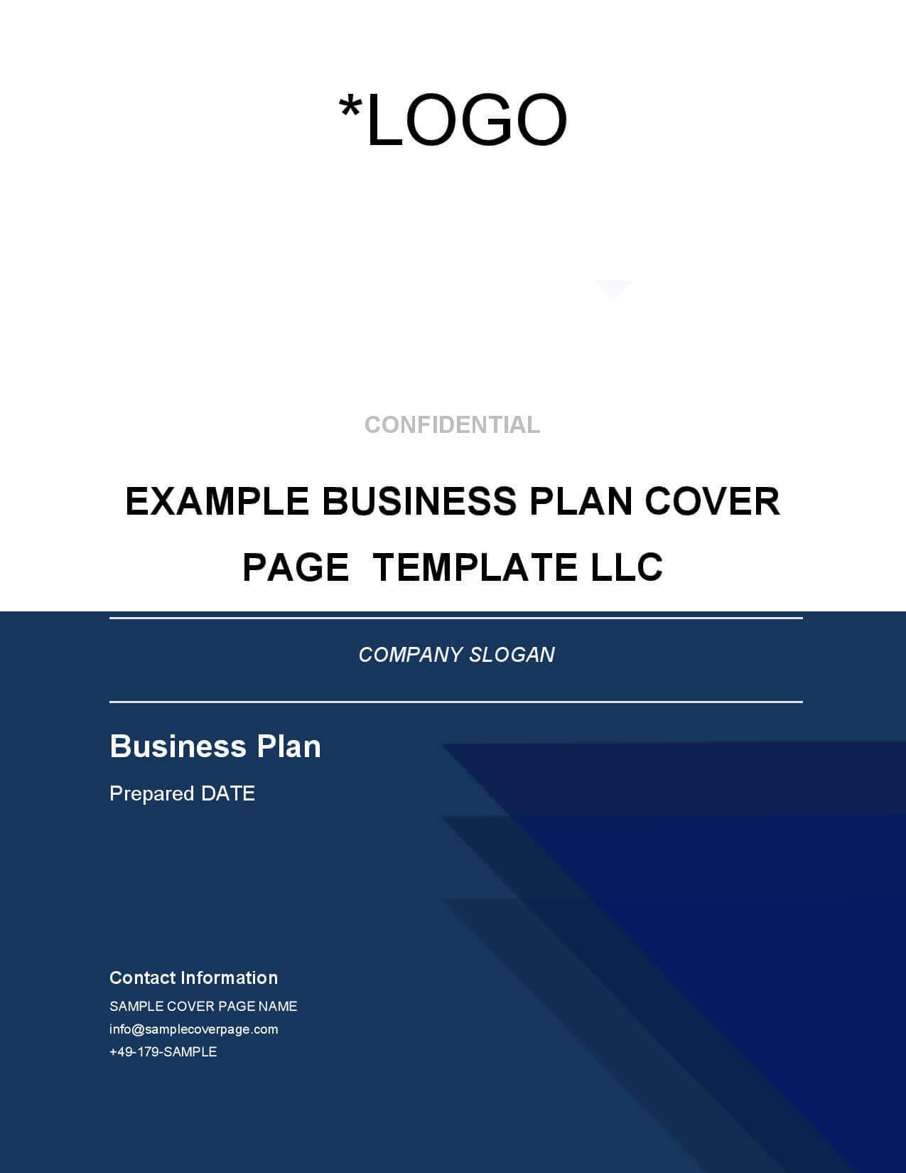 Business Plan Cover Page Template - Brainhive Business Planning With Business Plan Cover Page Template