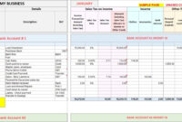 Business Plan Small Accounts Spreadsheet Editable Bank inside Bookkeeping Templates For Small Business Excel