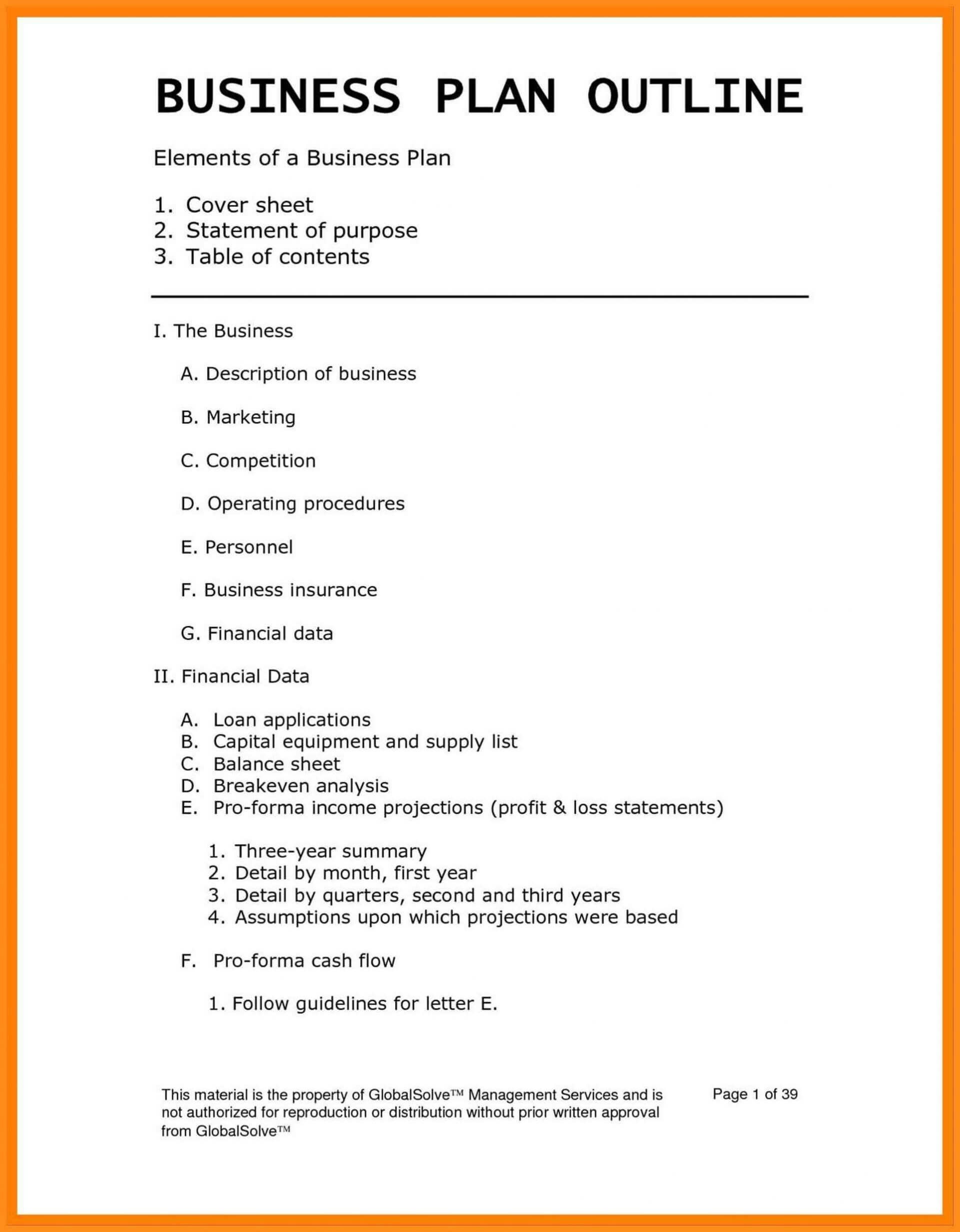 Business Plan Te Restaurant Tes In Word Excel Pdf Free Plans Inside Business Plan For Cafe Free Template