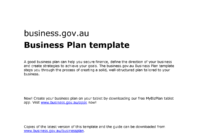 Business Plan Template Doc – 101 – Studocu within Australian Government Business Plan Template