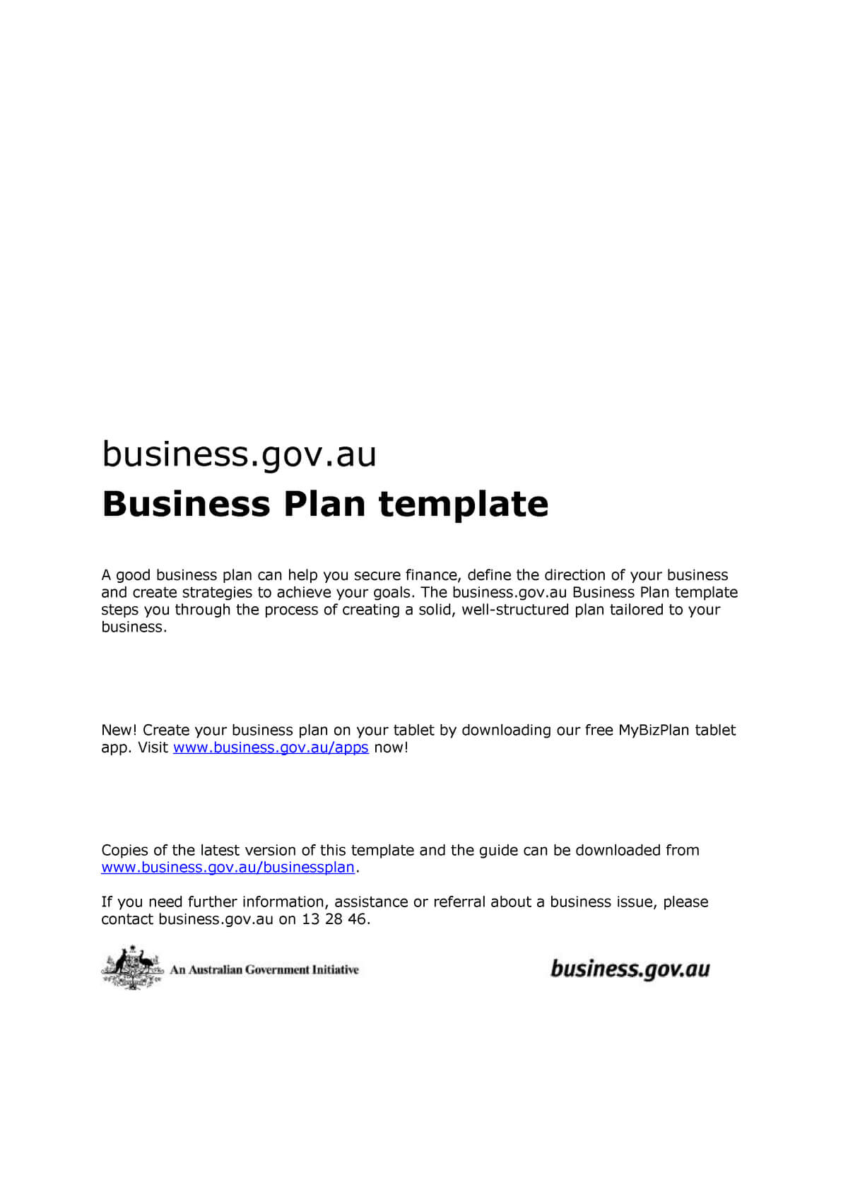 Business Plan Template Doc - 101 - Studocu Within Australian Government Business Plan Template