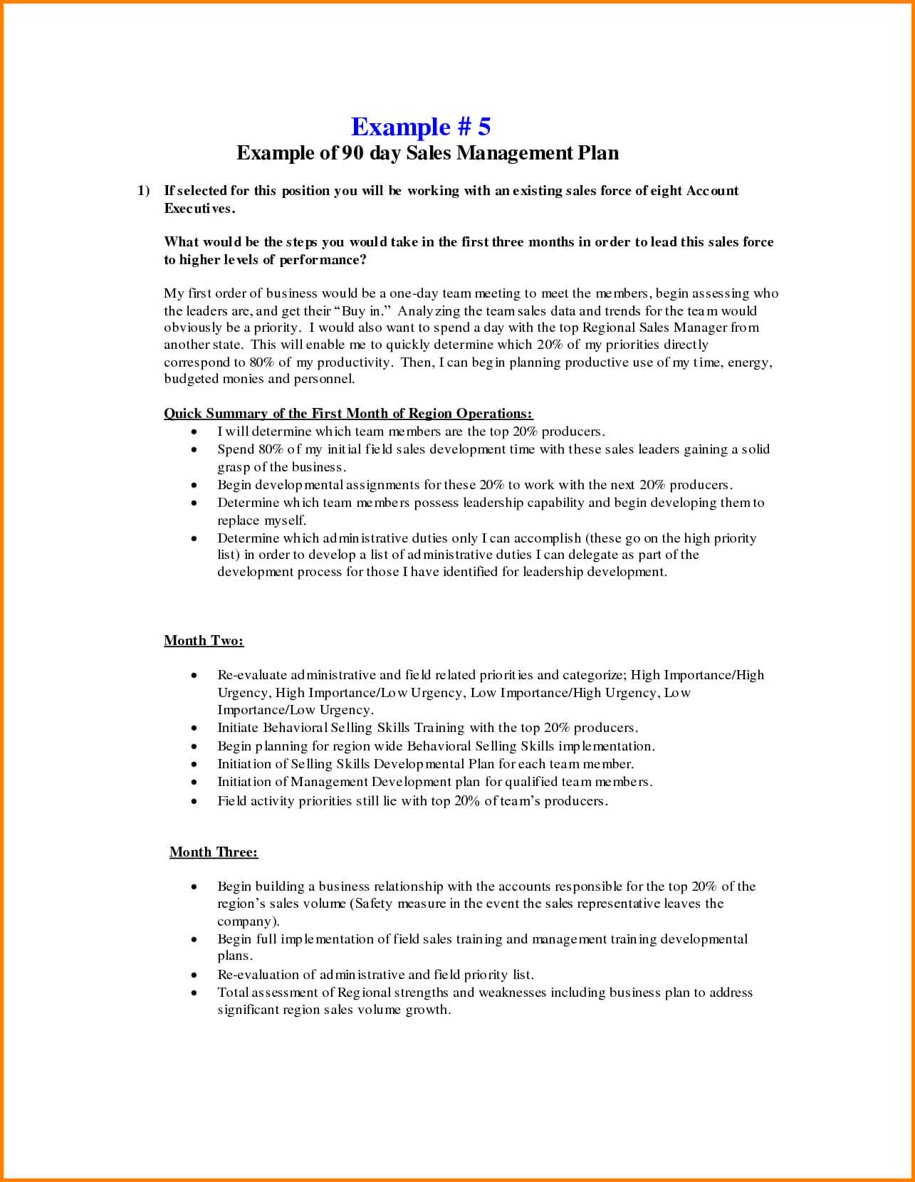 Business Plans Day Sales Management Plan Template Free For Intended For 30 60 90 Day Sales Management Plan Template