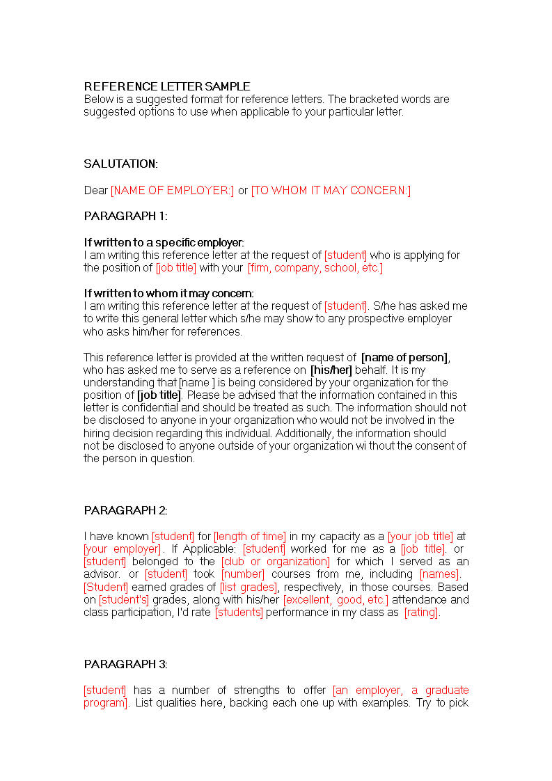 Business Reference Letter For A Colleague | Templates At Pertaining To Business Reference Template Word