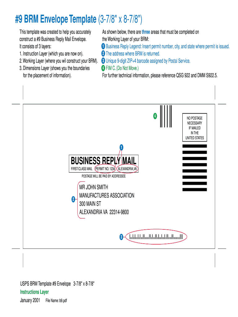 Business Reply Mail Template - Fill Online, Printable With Regard To Business Reply Mail Template