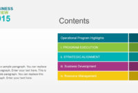 Business Review Powerpoint Template in Business Review Report Template