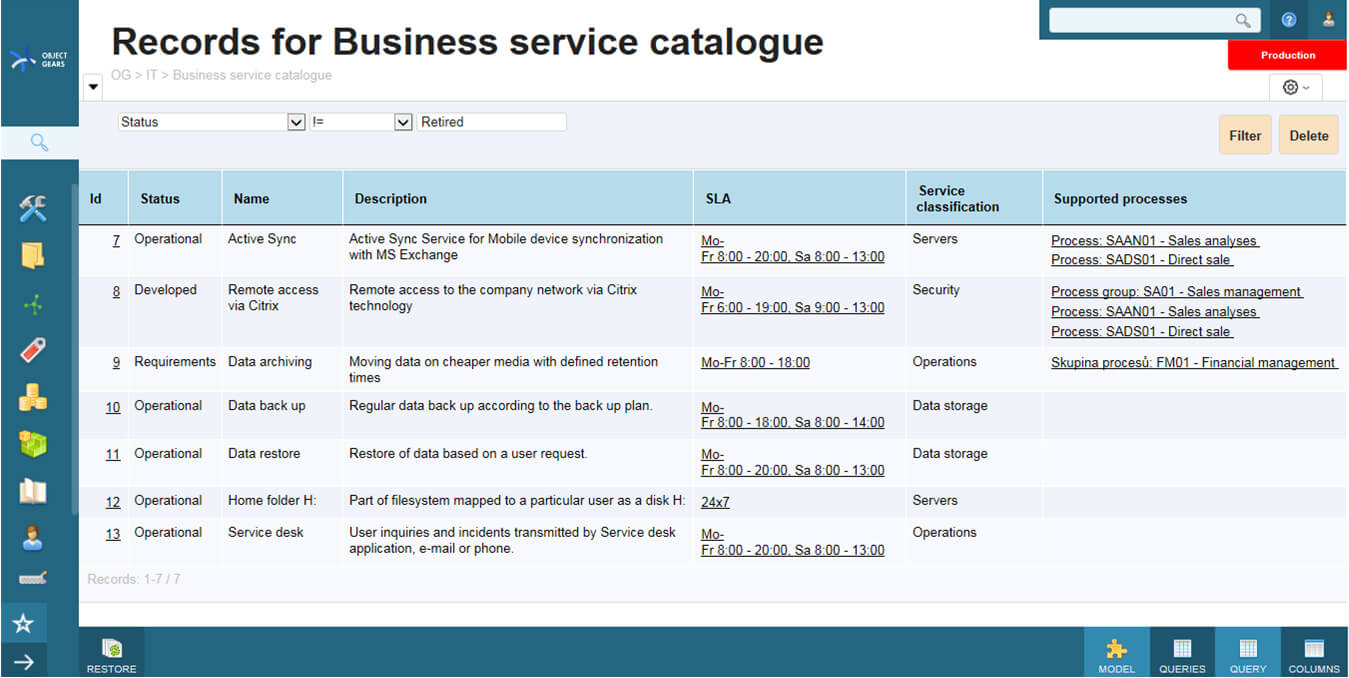 Business Service Catalogue Template ] - Defining Services Throughout Business Service Catalogue Template