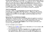 Business Travel Itinerary | Templates At Allbusinesstemplates with regard to Business Travel Itinerary Template Word