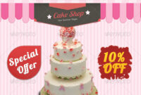 Cake Flyer Graphics, Designs & Templates From Graphicriver in Cake Flyer Template Free