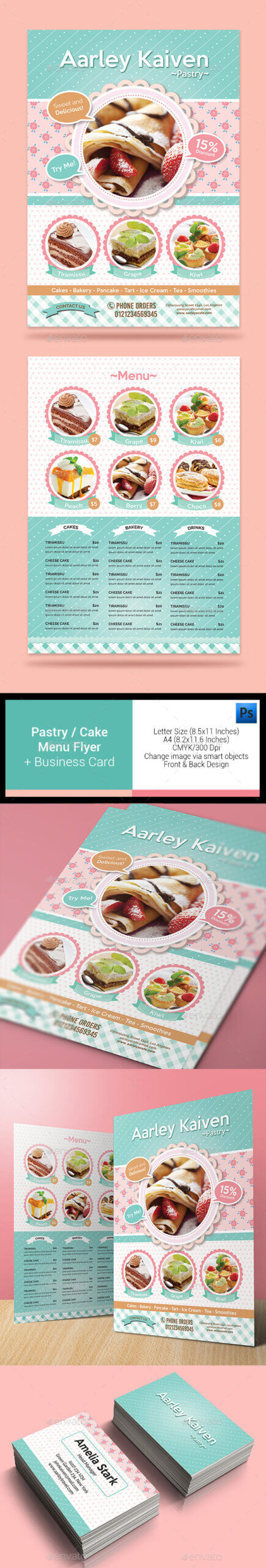 Cake Flyer Graphics, Designs & Templates From Graphicriver With Cake Flyer Template Free