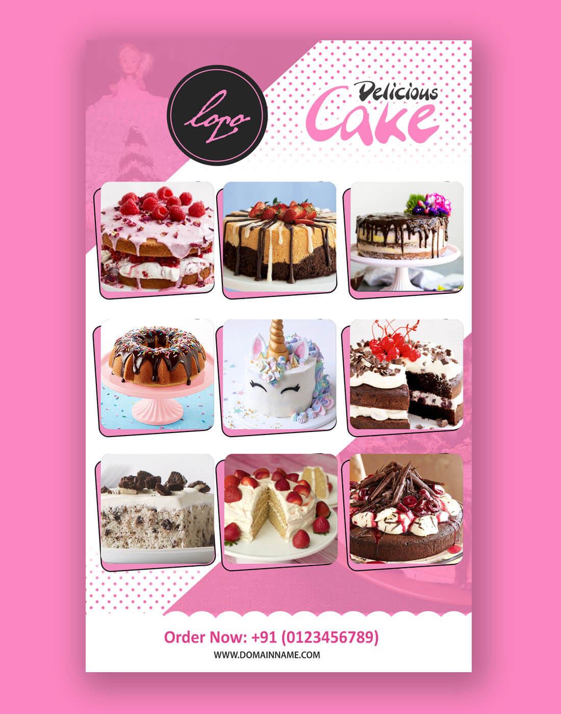 Cake Flyer Psd Template Regarding Cake Flyer Template Free