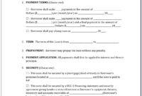 California Promissory Note Secureddeed Of Trust Form for California Promissory Note Template