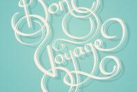 Calligraphy Bon Voyage Text within Bon Voyage Card Template