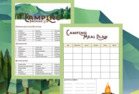 Camping Printables – Packing List And Meal Planner throughout Camping Menu Planner Template