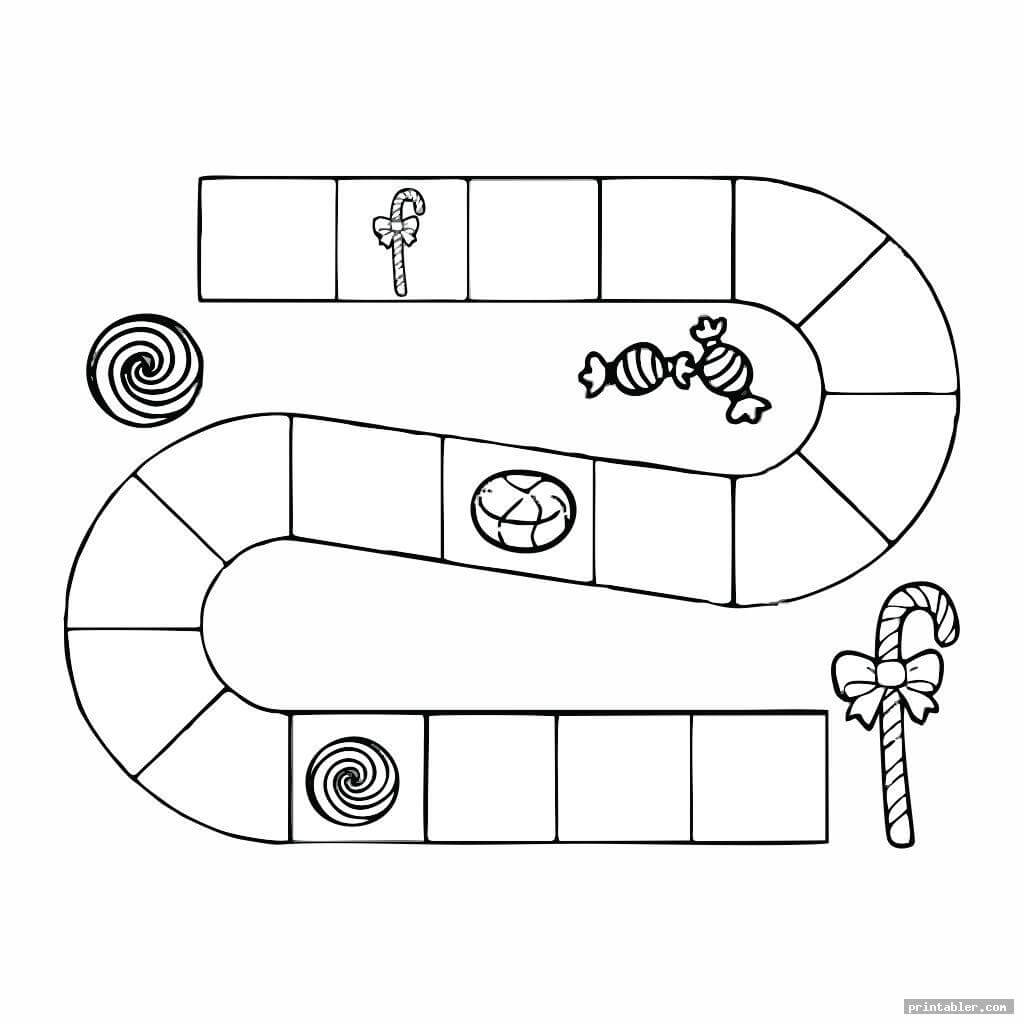 Candyland Board Template Printable - Printabler For Blank Candyland Template