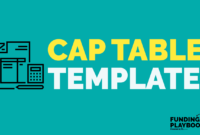 Cap Table 101: A Simple Tool To Help You With Cap Tables And for Cap Table Template