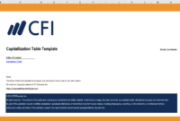 Cap Table Template – Free Startup Templates From Cfi Marketplace with Cap Table Template