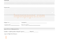 Capital Expenditure Approval Form Format regarding Capital Expenditure Report Template