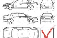 Car Condition Form Vehicle Checklist Auto Stock Vector regarding Car Damage Report Template