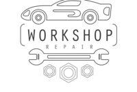 Car Repair Workshop Black And White Label Design regarding Black And White Label Templates