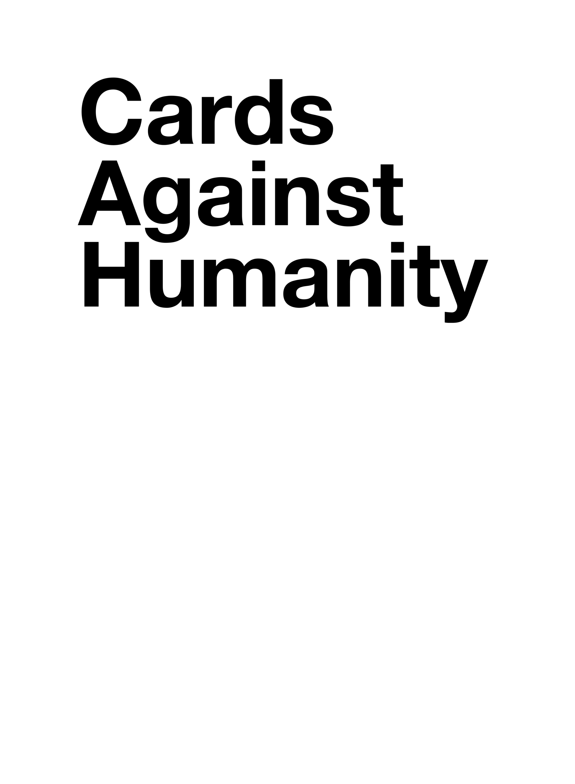 Cards Against Humanity - Card Generator For Cards Against Humanity Template