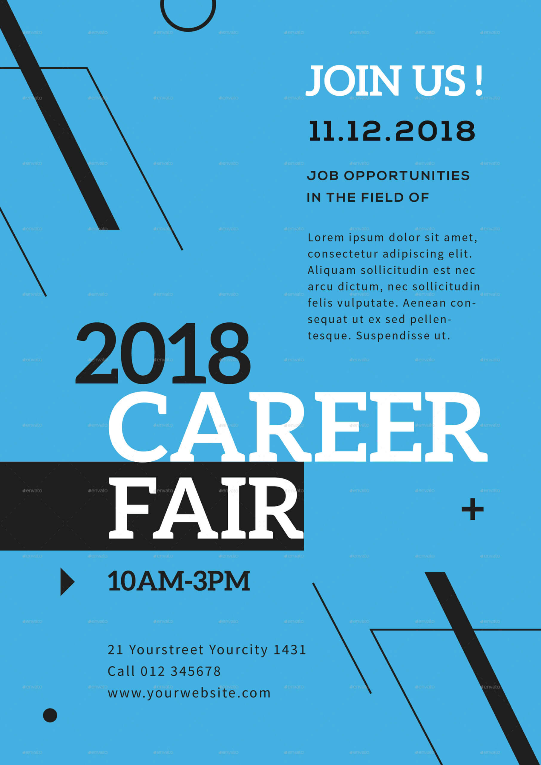 Career Fair Flyer Template Pertaining To Career Flyer Template