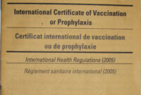 Carte Jaune – Wikipedia intended for Certificate Of Vaccination Template